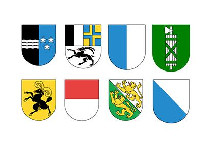 Gemeinden in 8 Kantonen